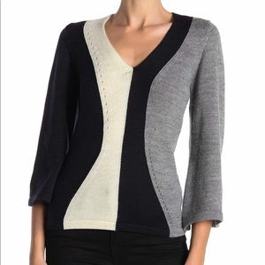 NWT French Connection Women's Colorblock Sweater